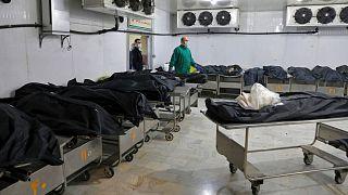 اجساد قربانیان همه گیری کرونا در ایران