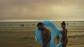 Ein Strand in Manavgat, in der türkischen Urlaubsregion Antalya