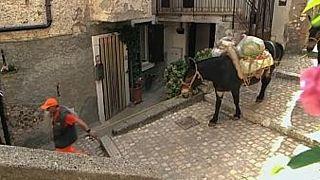 جمعآوری زباله با استر در ایتالیا