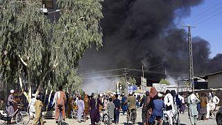 Aux abords de Kandahar après de violents combats