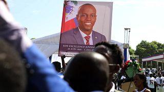 تشييع جنازة الرئيس الهايتي جوفينيل مويس في كاب هايتيان، هايتي -23 يوليو / تموز 2021