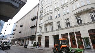 A 2016 photo of Prozna Street, in the heart of what was Warsaw's Jewish quarter before World War II