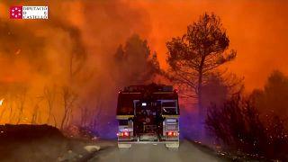 Incendio en Castellón, España