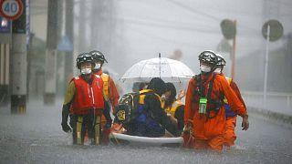 Inundações no Japão provocam vítimas