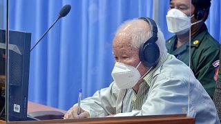 Khieu Samphan, lors de son jugement en appel à Phnom Penh, le 16 aout 2021