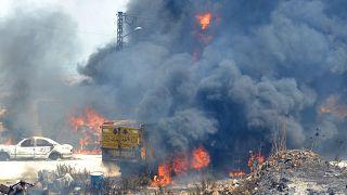 Mortal explosión de un depósito de combustible en el Líbano