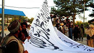 پرچم گروه طالبان