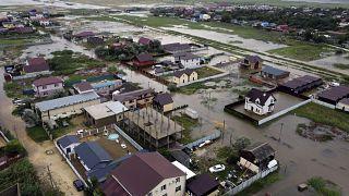 De fortes inondations frappent la région de Krasnodar en Russie