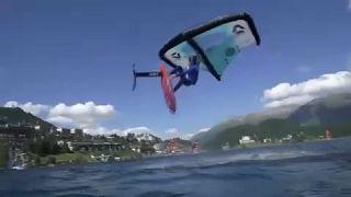 Ελβετία: Μαγευτικές εικόνες windsurfing στο Σεντ Μόριτζ