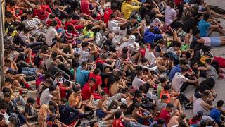 Dozens of unaccompanied children crossed the border into the Spanish enclave of Ceuat in May.