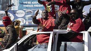 Zambia: Celebrations in Lusaka as opposition leader wins presidential election