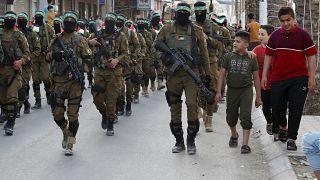 رژه نظامی حماس در نوار غزه