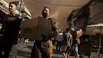 Residents face wildfire outside Jerusalem