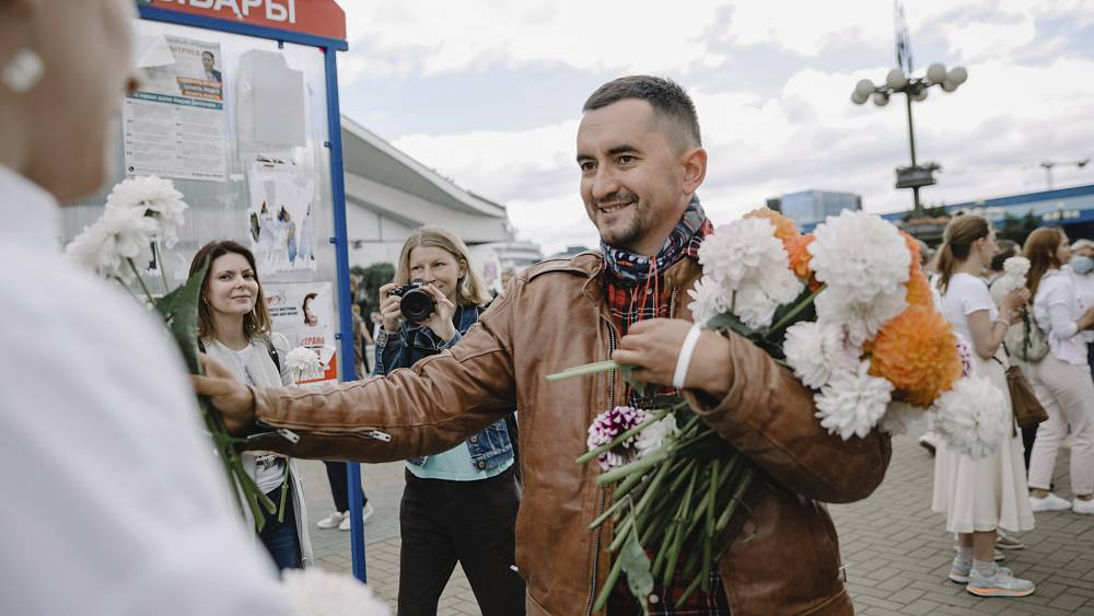 Belarusian activist sentenced after stabbing himself in court, say rights group thumbnail