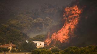 Novo incêndio na Grécia