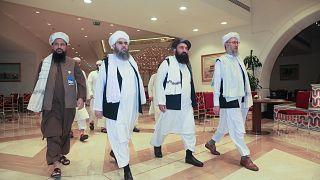Katar'ın başkenti Doha'ya gelen Taliban liderleri