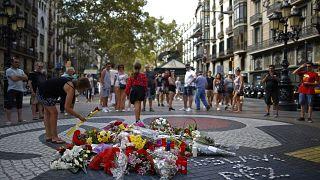 Imágen de archivo del homenaje a las víctimas del atentado en las ramblas en 2018