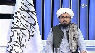 Capture d'écran d'une vidéo de l'agence AP, extraite d'une interview d'un leader taliban à la télévision nationale afghane, ce 17/08/2021