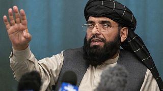 Photo d'archive : Suhail Shaheen, porte-parole du bureau politique taliban, le 19/03/2021