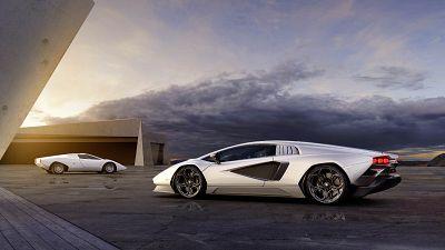 Image shows hybrid car model, Countach LPI 800-4 from Lamborghini.