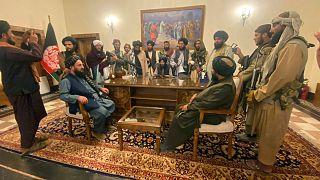 تصرف کاخ ریاست جمهوری افغانستان از سوی شبهنظامیان طالبان