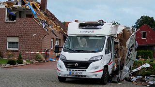 Tornado hit the village of Berumerfehn in northern Germany