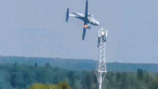 Russie : trois morts dans le crash d'un avion militaire en vol d'essai, le 17 août 2021.