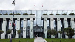 Varsavia, l'edificio della Corte suprema polacca