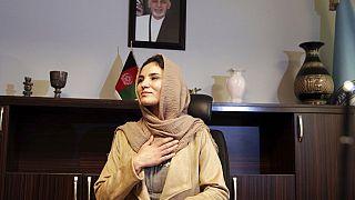 Hosna Jalil en su época de viceministra del Interior de Afganistán