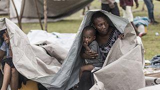 بارش باران و طوفان زندگی دشوار آوارگان زلزله زده هاییتی را دشوارتر کرد