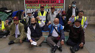 Απεργοί πείνας Γκούρκα στο Λονδίνο