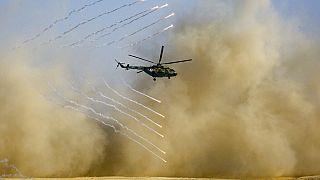Militares russos junto à fronteira com o Afeganistão