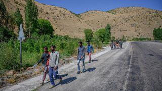 Türkiye'nin Van iline gelen Afgan göçmenler