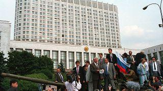 Борис Ельцин на танке - 19 августа 1991 г.
