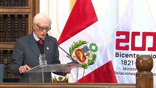 El ex ministro de Asuntos Exteriores peruano, Héctor Béjar.
