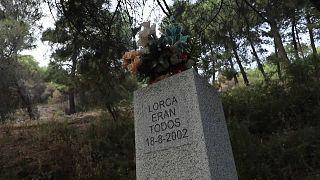 Memorial dedicado a Lorca y a otras víctimas del franquismo, barranco de Víznar, Granada, España.