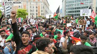 مهاجران افغان در بروکسل خواستار مداخله اتحادیه اروپا در افغانستان شدند