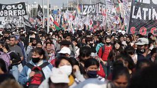 Se trata de la primera manifestación multitudinaria desde que asumió el nuevo ministro de Desarrollo Social, Juan Zabaleta, hace solo una semana.