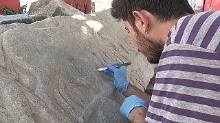 I rilievi scoperti nell'antica Daskyleion in Turchia