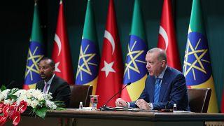 Cumhurbaşkanı Recep Tayyip Erdoğan ile Etiyopya Başbakanı Abiy Ahmed