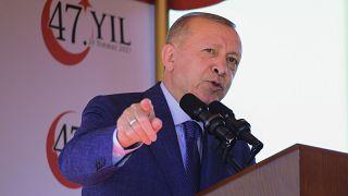 Recep Tayyip Erdogan török elnök 2021. július 20-án