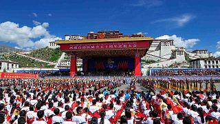 لاسا، عاصمة منطقة التبت ذاتية الحكم بجنوب غرب الصين، الثلاثاء 8 سبتمبر 2015