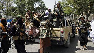 Patrullas de talibanes en Kabul