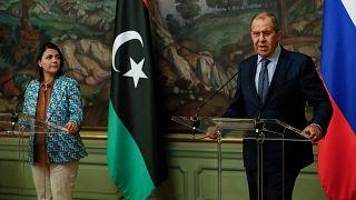 Libya Dışişleri Bakanı Necla el Menguş, Rusya Dışişleri Bakanı Sergey Lavrov