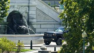 The suspicious vehicle was parked outside the Library of Congress on Capitol Hill.