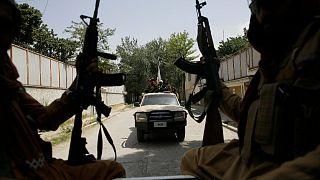 مقاتلو طالبان خلال دورية في كابول، أفغانستان.