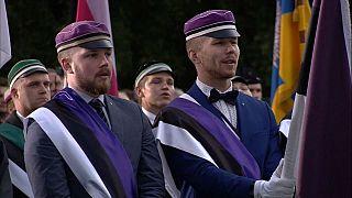 Cérémonie des 30 ans de l'indépendance de l'Estonie à Tallin