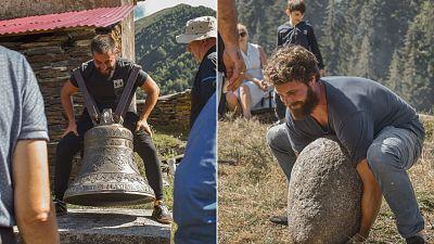 Kvirikoba festival of boulder tossing in rural Georgia