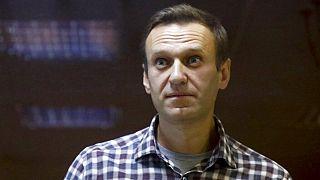 Alexej Nawalny im Februar 2021 vor einem Moskauer Gericht