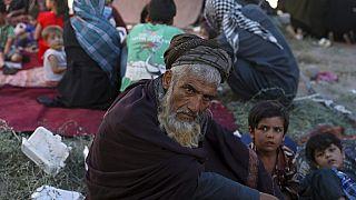 Un desplazado del norte de Afganistán, en Kabul